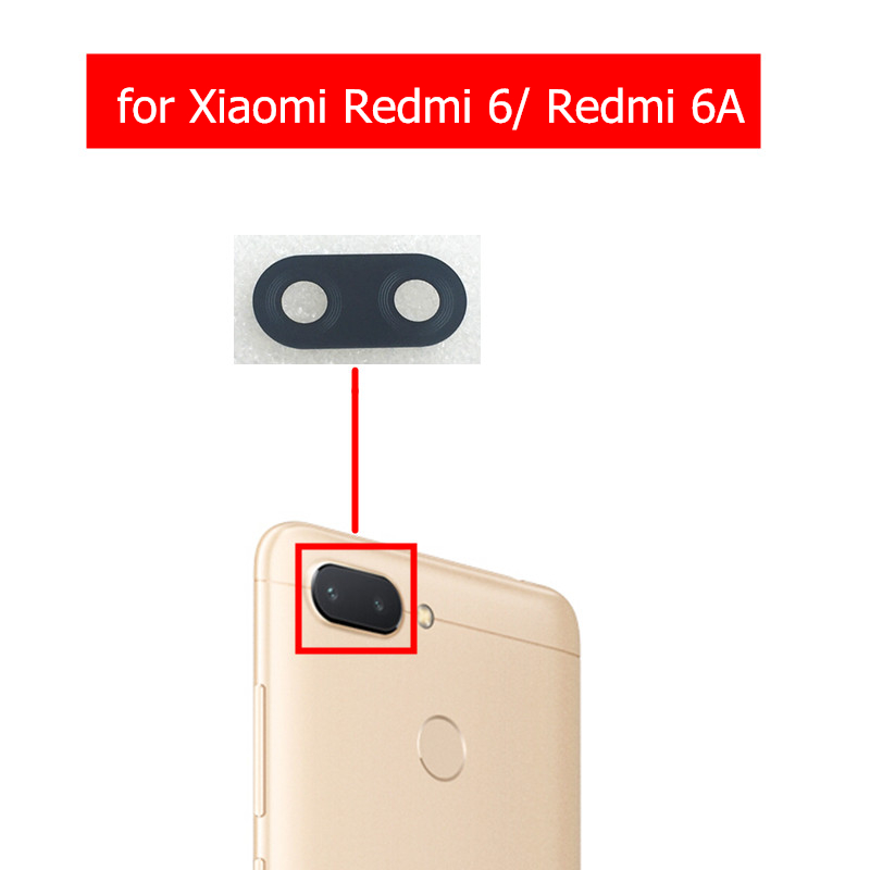 2pcs For Xiaomi Redmi 6 Camera Glass Lens Back Rear For Redmi 6A Camera Glass Lens With Glue Replacement Repair Spare Parts(China)