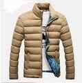 VXO Invierno de Los Hombres de algodón Acolchado escudo Abrigos Mezcla de Desgaste en ambos lados Con Cremallera Chaqueta Para Hombre Casual Grueso Outwear Para Los Hombres