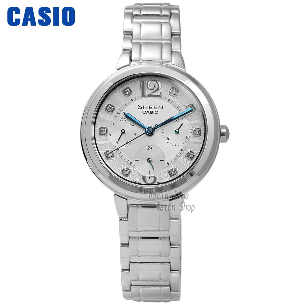 Casio watch waterproof quartz watch SHE-3048D-7A SHE-3048PGL-6A SHE-3048PGL-7A casio sheen multi hand shn 3013d 7a