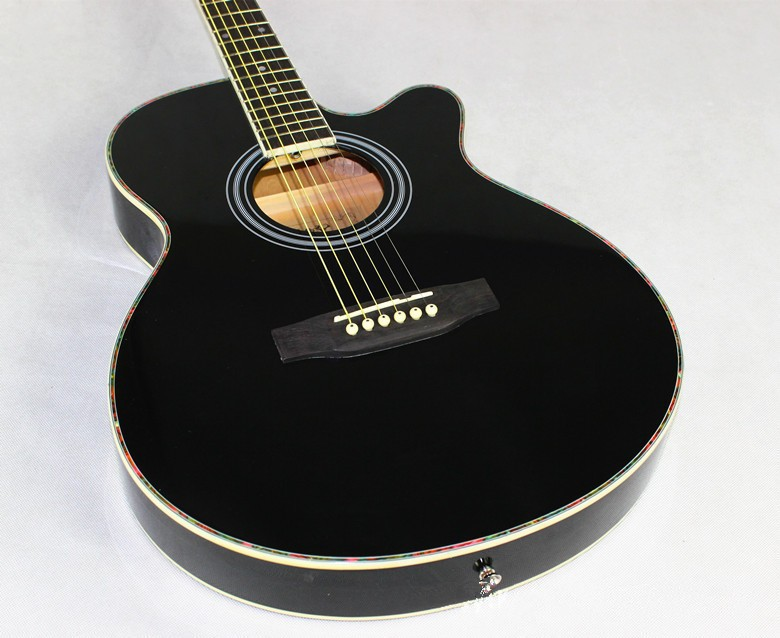 hot guitars 40 inch high quality acoustic guitar rosewood fingerboard guitarra with guitar. Black Bedroom Furniture Sets. Home Design Ideas