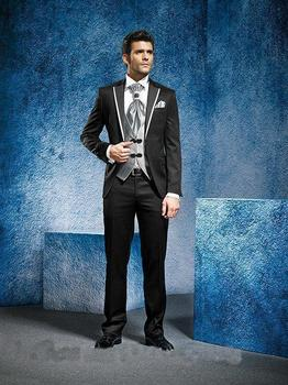2018 New Arrival Customized Men Suit wedding tuxedos customized Jacket+Pants+Tie+Vest Groom Tuxedos Best men suits business coat