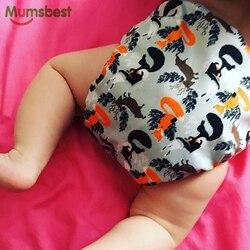 [Mumsbest] 2019 Novas Fraldas de Pano Do Bebê Ajustável Fralda de Pano Dos Desenhos Animados Raposas Lavável Reutilizáveis Bebês Fraldas de Bolso À Prova D' Água