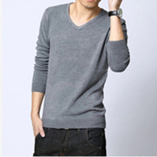 New 2016 Spring and Autumn V neck Solid font b Men b font font b Sweater