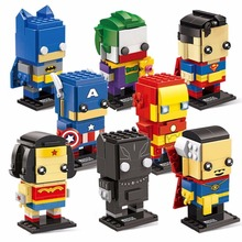 Decool Batman Iron Man Super Man Blocks Bricks Headz military Action Figures Toy for Children Fit for Lego for minifigure Marvel