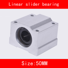 цена на 2 piece/lot SCS50UU 50mm Linear Motion Ball Bearing slider Bushing Linear Shaft for CNC 50mm Linear Shaft