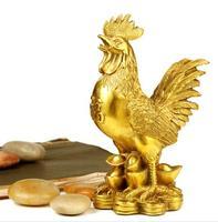Simulation golden chicken model, creative animal chicken decoration crafts, wedding birthday gift