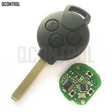QCONTROL clé télécommande pour voiture, compatible avec mercedes benz Smart Fortwo, 451, 2007, 2008, 2009, 2010, 2011, 2012, 2013