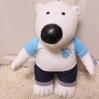 Pororo Plush Toys 45CM Cartoon Pororo Polar Bear Poby Plush Toy Dolls Soft Stuffed Toys Pelucia Brinquedos Free Shipping