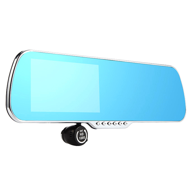 5 inch Special Smart Car DVR GPS Android Rearview mirror Bluetooth Monitor 1080P Dual Lens Camera Video For Anti glare mirror