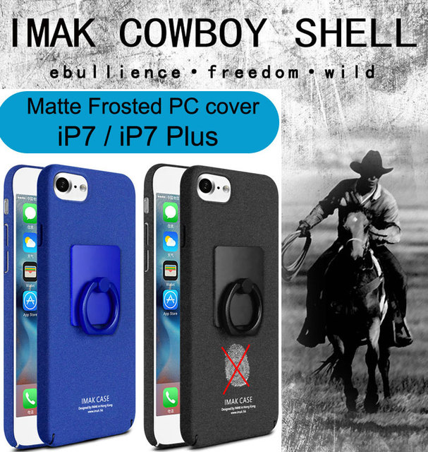 online retailer b26d0 cd275 US $4.98 |Imak Cowboy Plastic Case Cover For iPhone 7 Finger Grip Ring  Holder Protective Shell For iPhone 7 Plus on Aliexpress.com | Alibaba Group