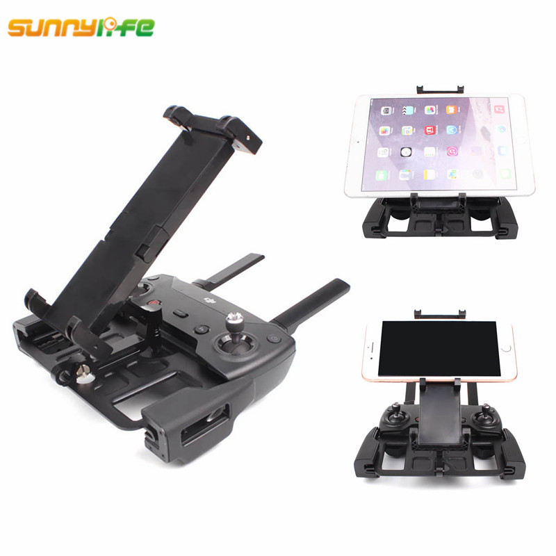 Sunnylife Mavic Air DJI Spark Remote Controller Holder Phone Tablet Monitor Bracket Metal Mount for Mavic 2 Pro ZOOM Accessories for dji mavic pro remote controller metal base tablet mobile phone flat bracket holder for dji mavic air for dji spark