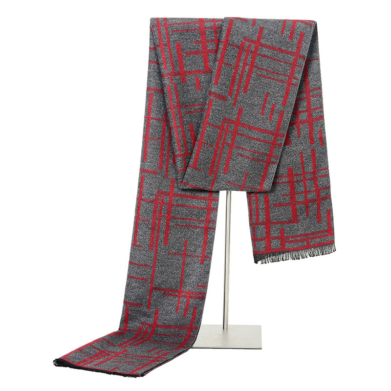 Scarf Luxury Brand Designer Men Classic Winter Scarf Warm Soft Tassel Shawl Wrap Sick Scarf Men Scarves