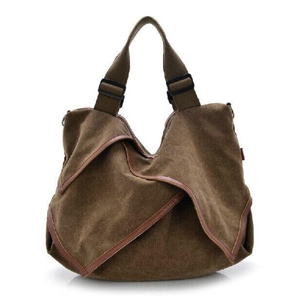 2017 New Fashion Women Handbags Brand Canvas Messenger Bag Large Capacity Cool Bags Hobos Shape Soft Women Shoulder Bag Bolsas