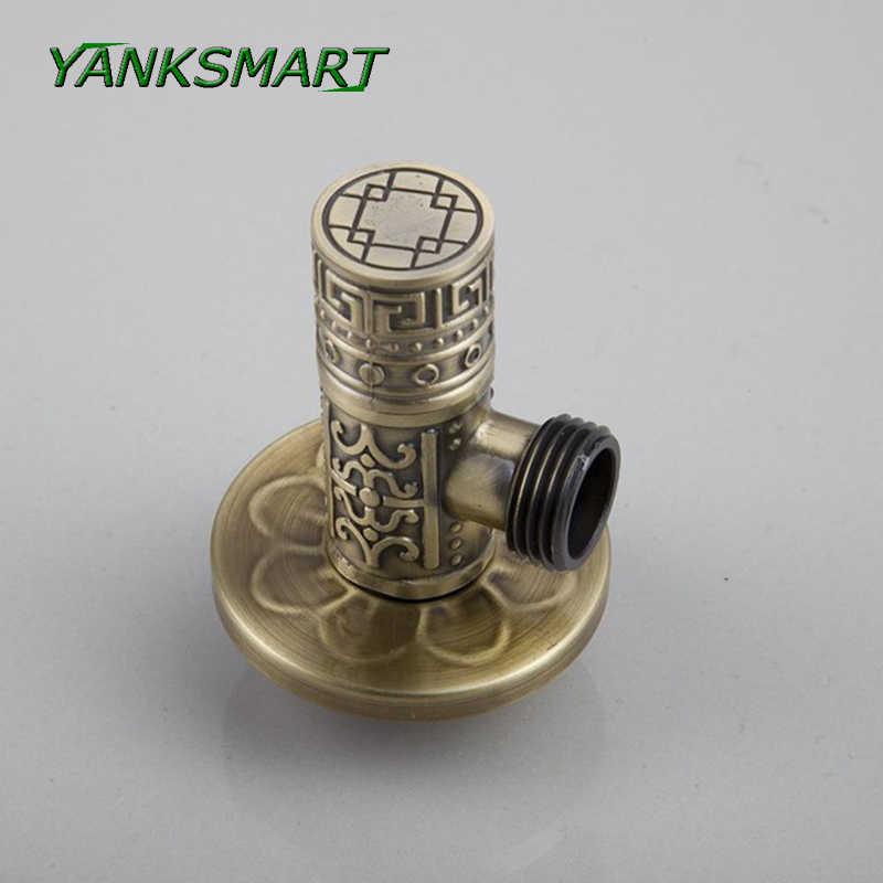 YANKSMART Ретро Античные аксессуары для ванной Латунный Водяной запорный клапан +