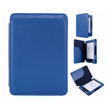 Lichi PU Leather Protective Protect Blue Case Skin for Amazon Kindle 4 5 Kindle4 Kindle5 Slim Magnetic Tablet Stand Cover