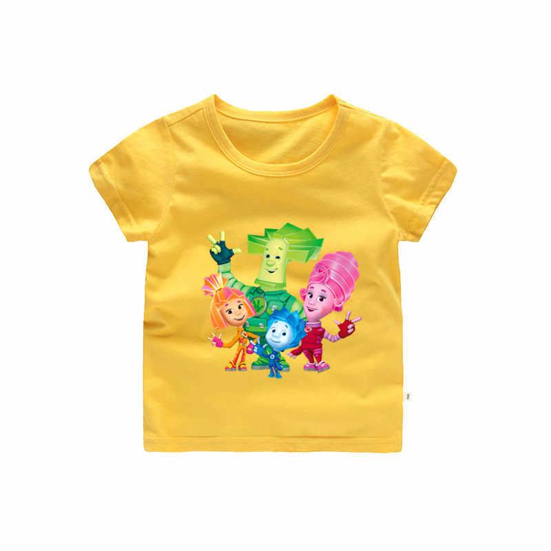 2-12 T 漫画 o ネック消防士サム Tシャツコットンの服夏ためはキッズ子供半袖服