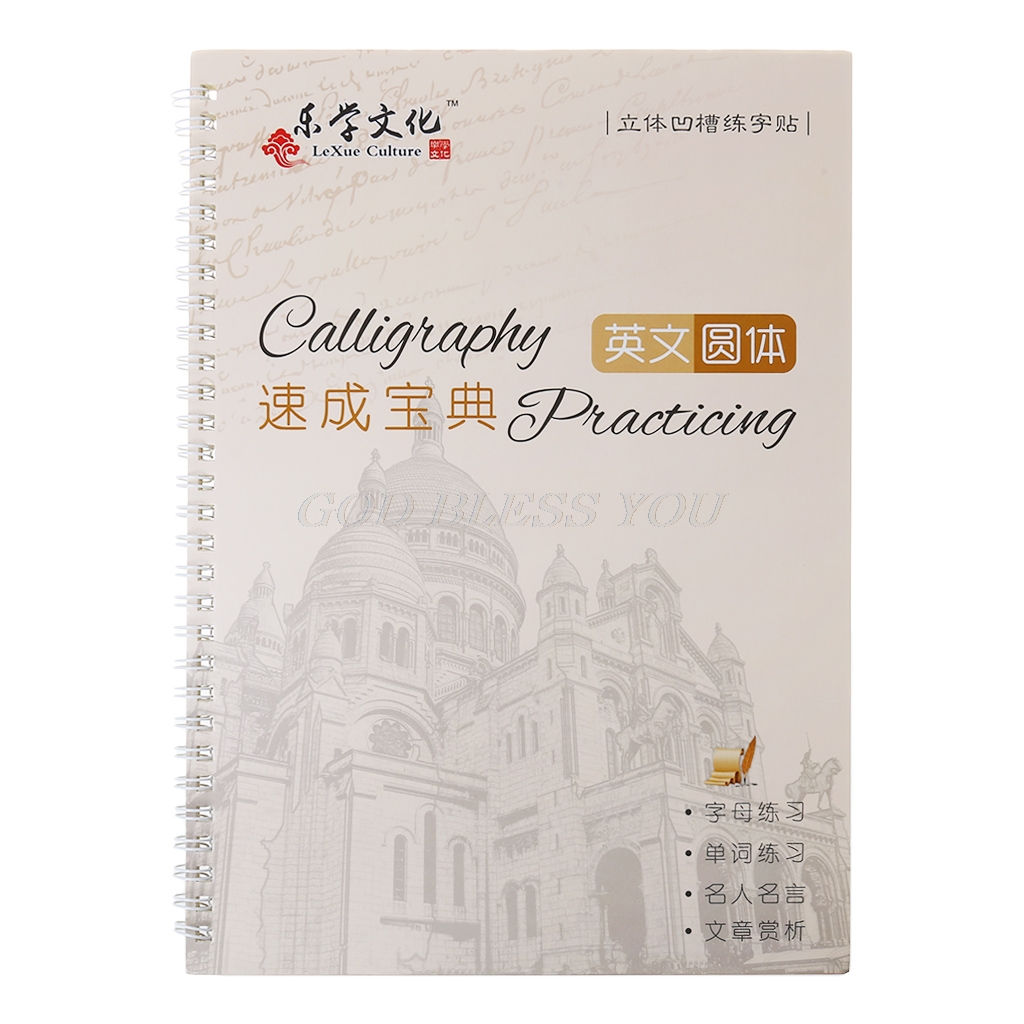 Cursive Writing English Calligraphy Copybook For Adult Children Exercise Groove Handwriting Practice BookCursive Writing English Calligraphy Copybook For Adult Children Exercise Groove Handwriting Practice Book
