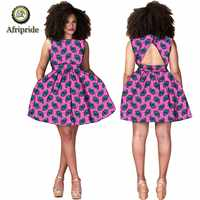 2019 African print sexy dresses for women summer A-line mini backless party women dress ankara fabric AFRIPRIDE S1925067