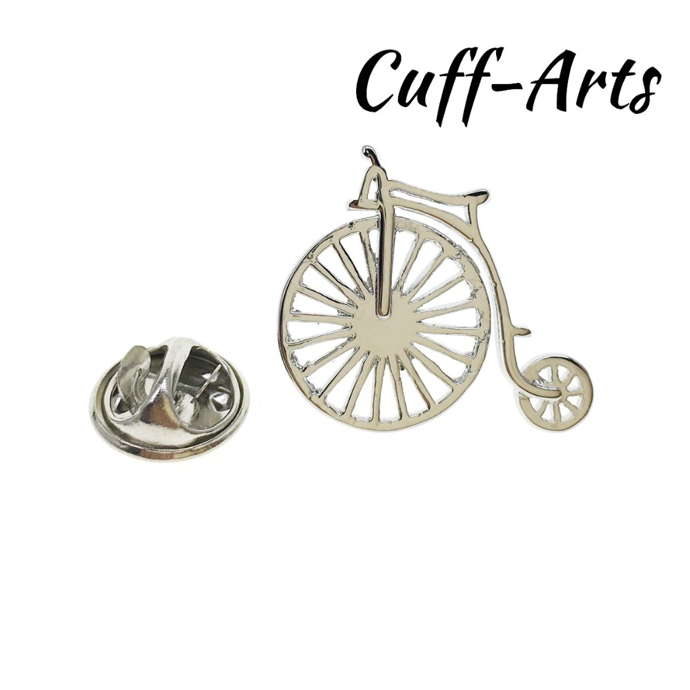 Broche de solapa para hombre, Pin y broches Penny Farthing, PIN de solapa, insignias, joyería, Broche de la solapa por cufflarts P10286