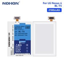 NOHON LG T5 Battery For LG Google Nexus 4 E975 E960 E973 LS970 BL-T9 2100mAh Lithium Rechargeable Phone Batteries Free Tools черный белый для lg optimus g e973 e975 оригинал задняя крышка батареи только стекло корпус двери бесплатная доставка