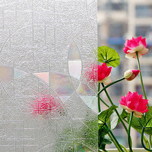 90 cm X 50 cm 3D Papel De Vidrio Esmerilado Decorativo Estático Cling Window Film Stained