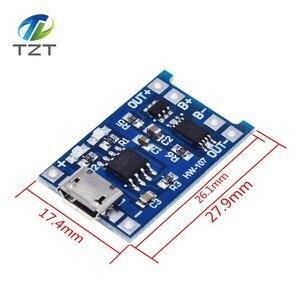 Image 2 - 10 adet mikro USB 5V 1A 18650 TP4056 lityum pil şarj cihazı modülü şarj kurulu koruma ile çift fonksiyonları 1A Li ion