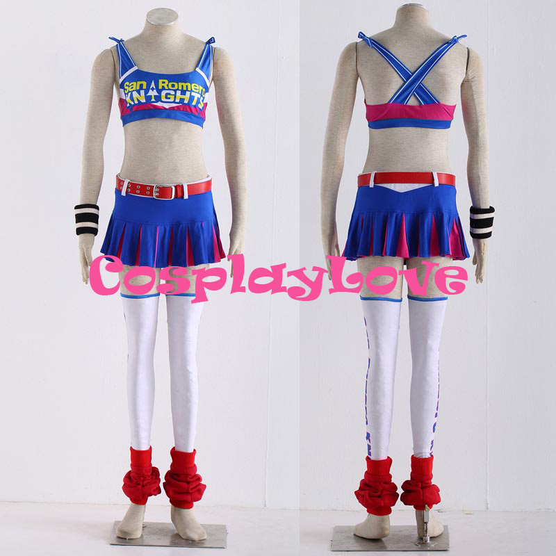 High Quality Stock Japanese Game Lollipop Chainsaw Juliet Starling Cosplay Costume For Christmas Halloween