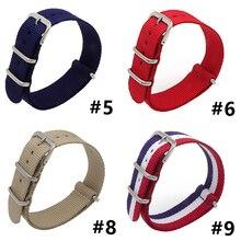 Купить с кэшбэком  James Bond 007 Army Sport Fabric Nato Nylon Bracelet 18 20 22mm Black Blue Buckle Canvas Belt For Men Watch Bracelet