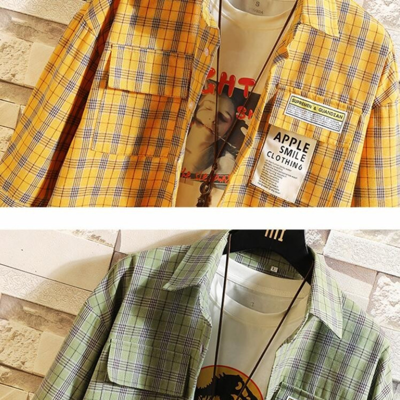 0154 Summer Plaid Shirt Men Short Sleeve Hip Hop Streetwear Shirts For Man Harajuku Long Asymmetrical Shirt Loose Plus Size 5XL in Casual Shirts from Men 39 s Clothing