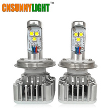 CNSUNNYLIGHT LED H7 H8 H11 9005 9006 HB3 HB4 Car Bulbs DRL Fog Headlight Lamp Plug & Play 60W 6000LM/set 6000K
