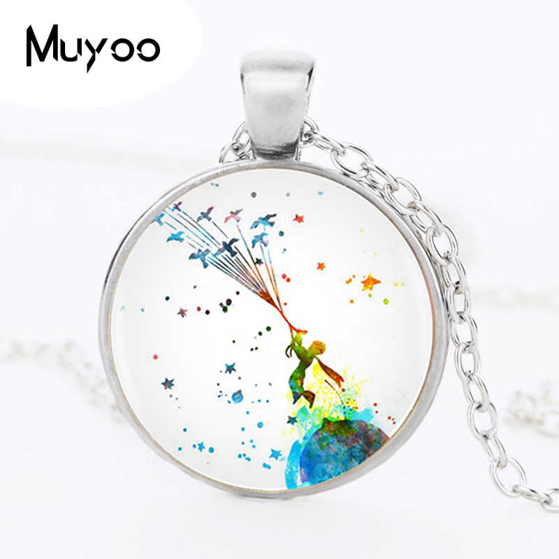 1pcs/lot The Little Prince Pendant Necklace Long Chian Statement Handmade Fashion Necklace For Women HZ1
