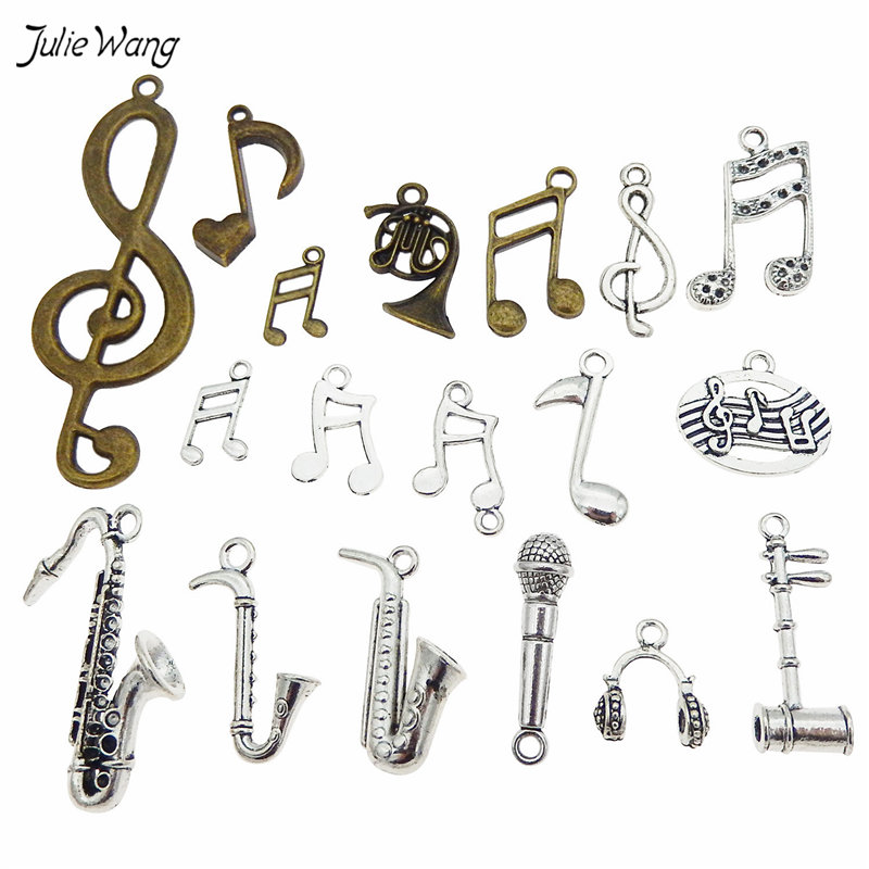 Mixed Music Instruments Notes Pendants Charms Music Jewelry 3