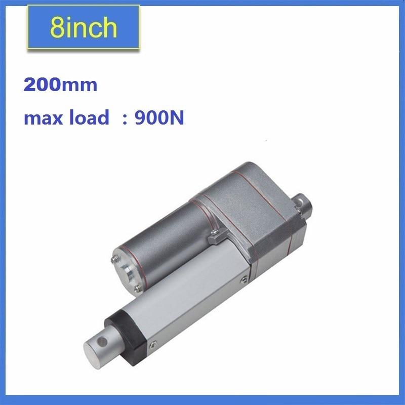 10K Potentiometer Feedback 12VDC 24vDC 900N198LBS force Electric Linear Actuator Motor 200mm/8 fader potentiometer linear sensor chip feet 10k 23mm