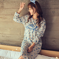 Fashion Women Cotton Nightgowns Spring Home Dress Cartoon Cotton Sleepwear Nightdress Loose Comfortable Sleepshirts for women