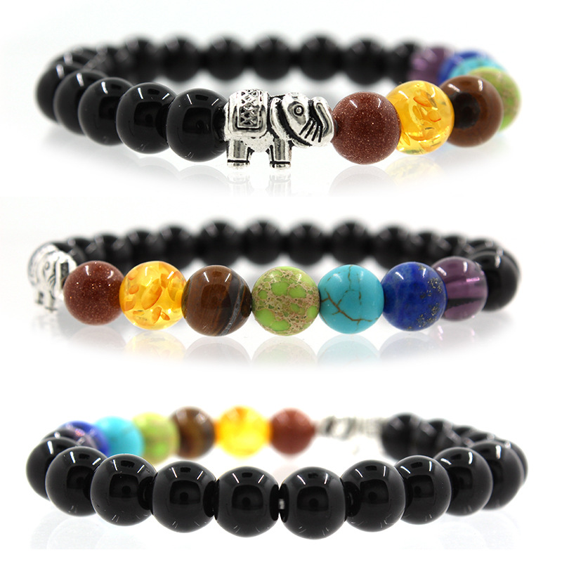 heads chakra stressed bracelet gemstones healing natural product