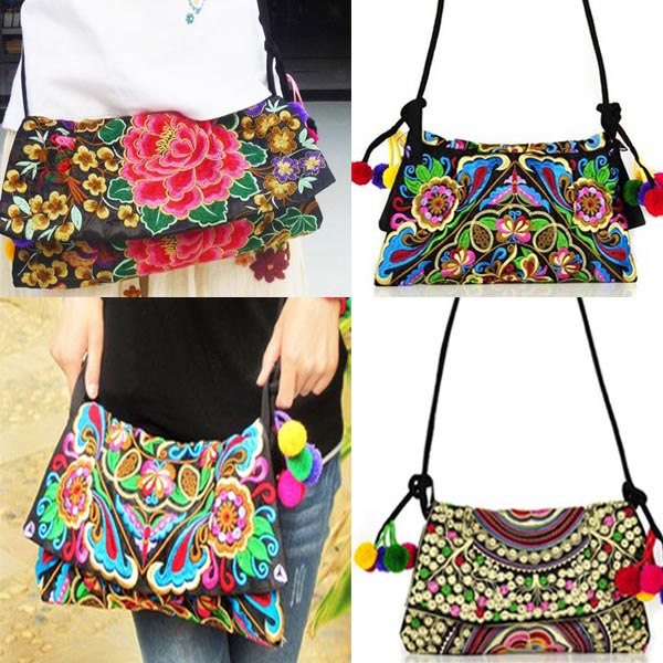 Online Shop New Handmade Embroidery Double Side Embroidered bags ...