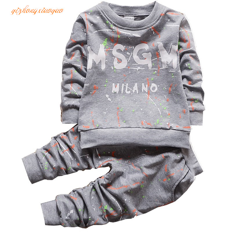 Kids Clothes Set Baby Boys Girls Clothes Suit Toddler Boys Clothing Long Sleeve Tshirt Pants Casual Tracksuits Children Clothes fall halloween clothes cutest pumpkin short sleeve orange black sequins suit children boutique long pants with matching bow set
