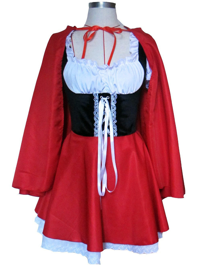 Little Red Riding Hood Adult Women's Costume Sexy Dress & Cape Halloween Fantasy Fancy Dress