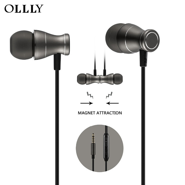 Best Wired Earphones | Ollly In Ear Earbuds Earphones Headphones Magnetic Best Wired Bass