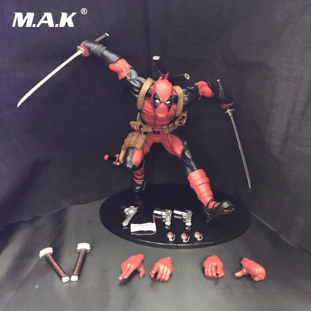 23cm PVC Deadpool Action Figure Running Ver. with spare parts with Box for Collections Models Kids Toys spare the kids