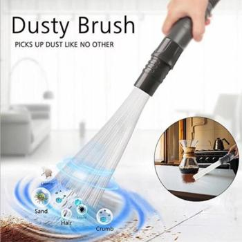 Dusty Brush Vacuum Cleaner Multi-functional Straw Tube Dirt Remover Dust Brush Portable Universal Dust cleaning tool Dropshpping image