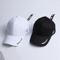 Korean Men Long Belt Baseball Cap Women Vintage Hip Hop Streetwear Smile  Face Zipper Snapback Bone 801abc20e7e1