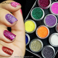 12 boxes Laser Nail Glitter Sequin Fluorescent Acrylic Powder Nail Sparkle Dust Tips Manicure Makeup Nail Art Decoration Kit