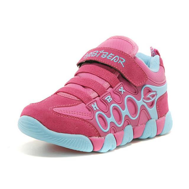 Hobibear inverno moda infantil algodão shoes boy esportes quentes shoes crianças high top running shoes tênis menina a619