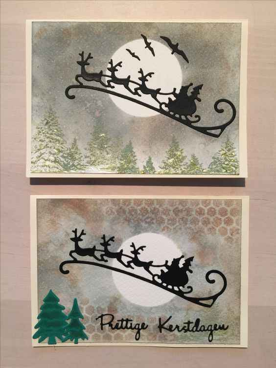 Christmas Santa Reindeer ELK Sled Sleigh Metal Cutting die Set Punch cutter knife for Clear stamp Scrappbooking Card make DIY