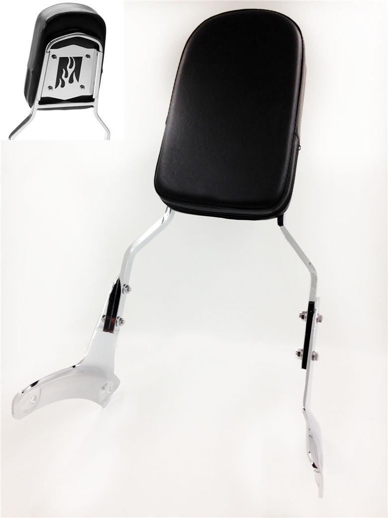 Aftermarket motorcycle parts Flame Backrest Sissy Bar for Honda 1997-2003 Shadow ACE 750 VT750 400 VT400 motorcycle saddlebag bracket support bar for honda shadow ace vt400 vt750 1997 2003 solid steel chrome 16cm 2pcs high quality