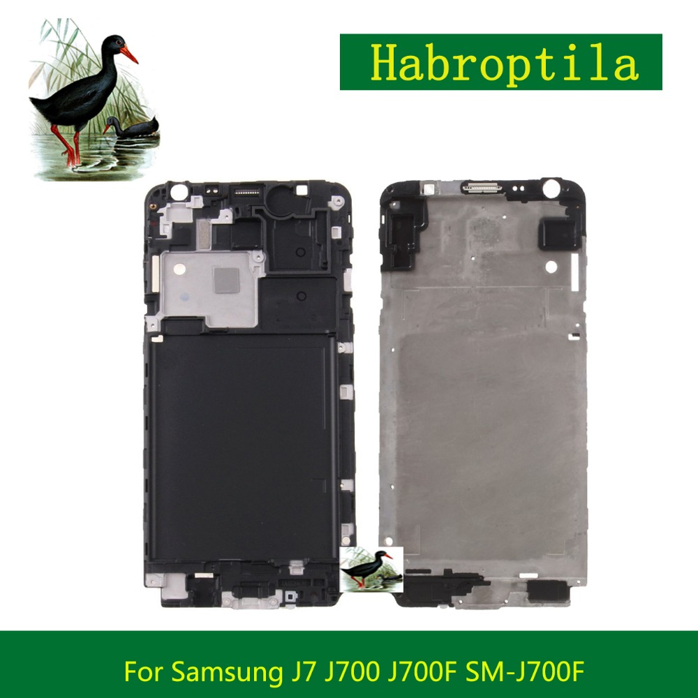 Replacement For Samsung Galaxy J7 J700 J700F SM-J700F Front Frame Front Housing LCD Screen Plate Bezel Repair Parts