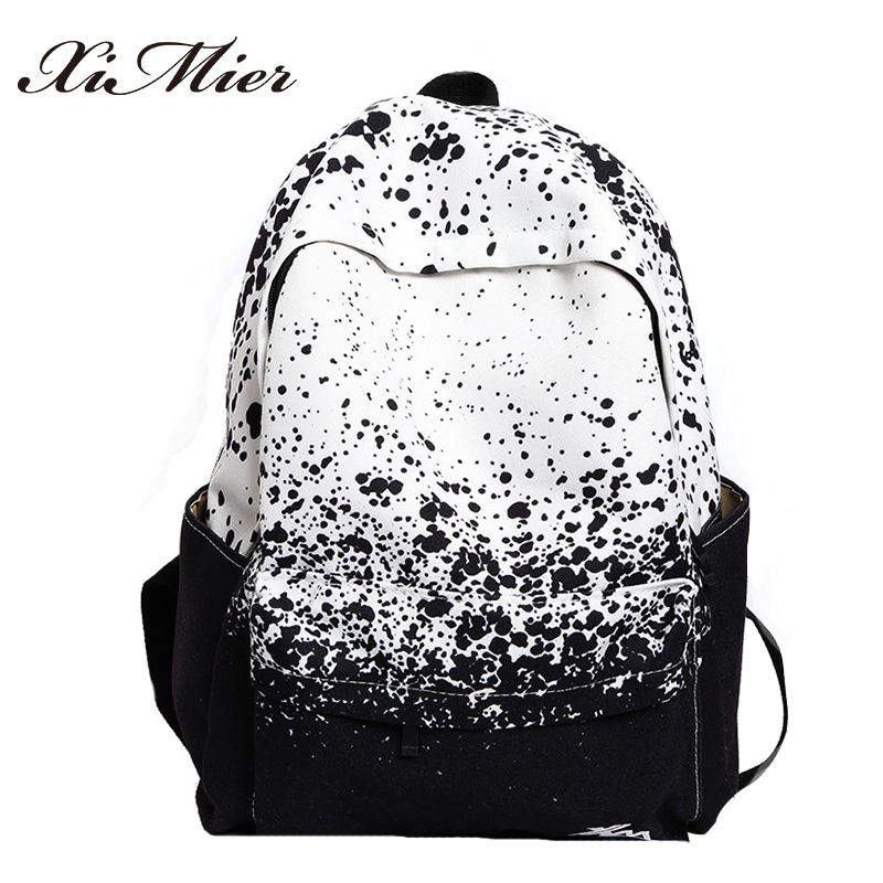 fashion printing canvas backpack for teenage girls comfortable women school bag travel multifunction mochila feminina backpacks