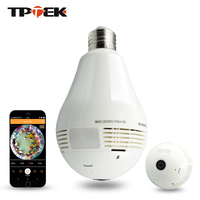 1 3MP Bulb Light Wireless IP Camera Panoramic Wi Fi Lamp FishEye WIFI Camera 360 Degree