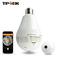 1 3MP Bulb Light Wireless IP Camera Panoramic Wi Fi Lamp FishEye WIFI Camera 360 Degree